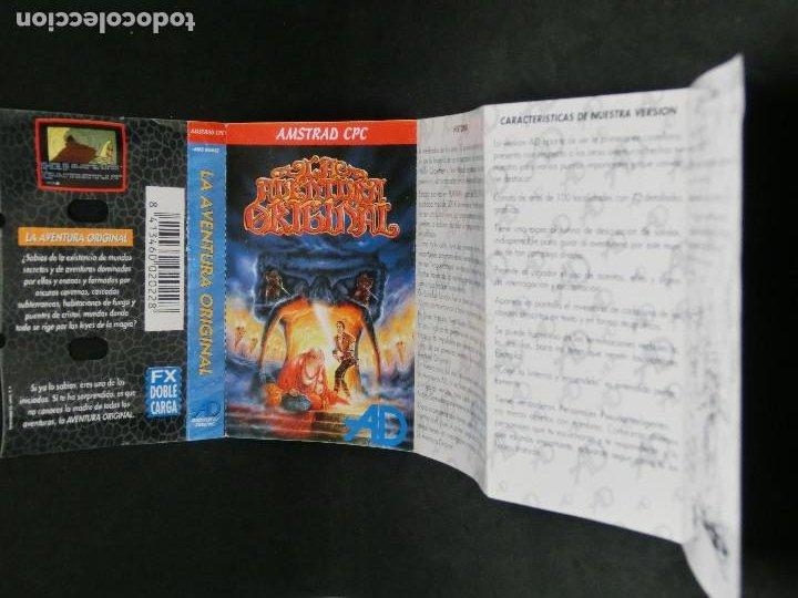 Videojuegos y Consolas: CASETE VIDEOJUEGO AMSTRAD - LA AVENTURA ORIGINAL - AVENTURA DINAMIC 1989 - Foto 5 - 194742288