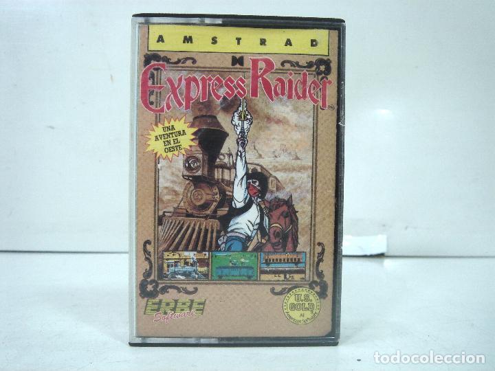AMSTRAD -EXPRESS RAIDER - ERBE 1987 -INSTRUCCIONES - VIDEO JUEGO CASETTE CASETE CINTA RIDER (Juguetes - Videojuegos y Consolas - Amstrad)