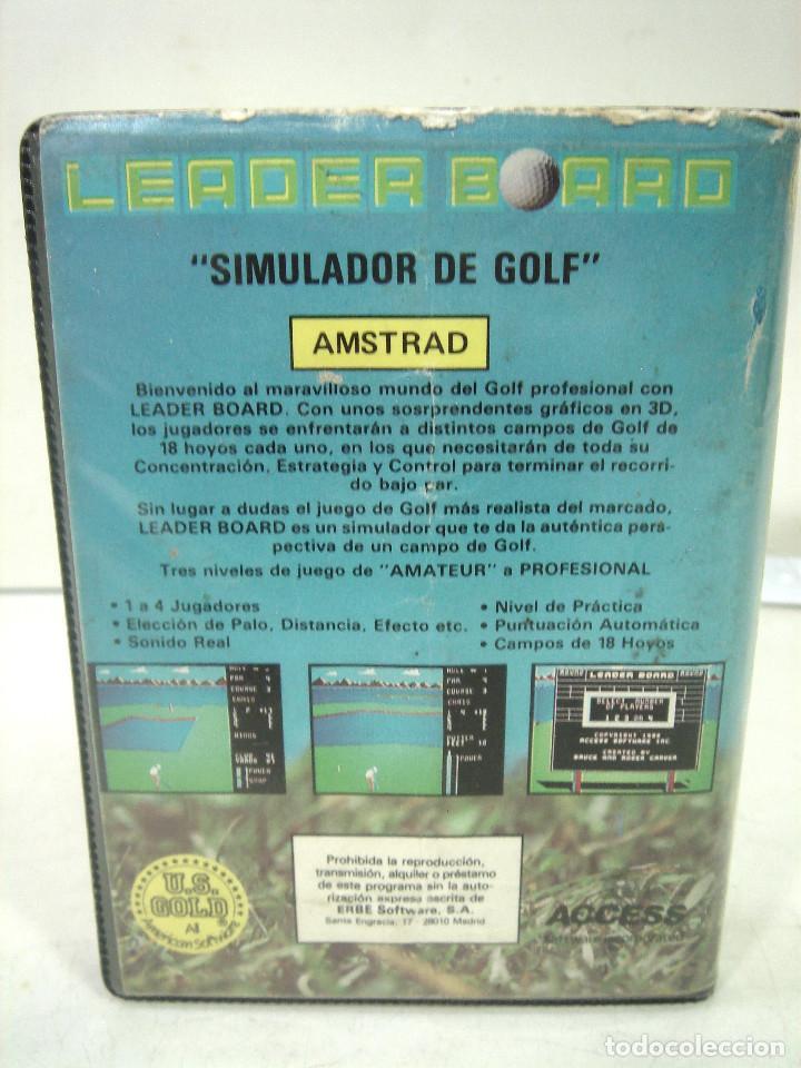 Videojuegos y Consolas: AMSTRAD - LEADER BOARD - US.GOLD 1986 -FUNDA INSTRUCCIONES - VIDEO JUEGO CASETTE CASETE CINTA - Foto 2 - 195039092
