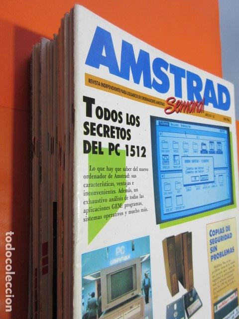 Videojuegos y Consolas: AMSTRAD SEMANAL NUMERO 65 AL 100 DICIEMBRE 1986 A SEPTIEMBRE 1987 - ESTUDIO OFERTA LEER INT - Foto 2 - 195882558