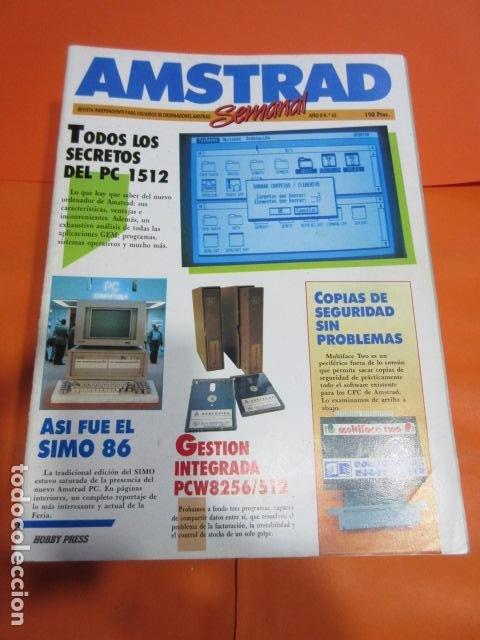 AMSTRAD SEMANAL NUMERO 65 AL 100 DICIEMBRE 1986 A SEPTIEMBRE 1987 - ESTUDIO OFERTA LEER INT (Juguetes - Videojuegos y Consolas - Amstrad)