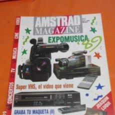 Videojuegos y Consolas: REVISTA AMSTRAD MAGAZINE NUMERO 5 AÑO 1989 - JOAQUIN LUQUI 40 PRINCIPALES RICK ASLEY - EL SUPER VHS. Lote 195885778
