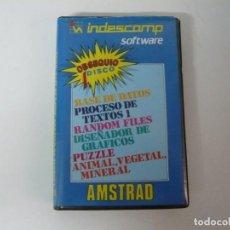 Videojuegos y Consolas: INDESCOMP - PROGRAMAS / ESTUCHE GRANDE / AMSTRAD CPC 6128/ RETRO VINTAGE / DISCO - DISKETTE. Lote 197495727