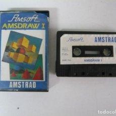 Videojuegos y Consolas: AMSDRAW I / JEWEL CASE / AMSTRAD CPC 464 / RETRO VINTAGE / CASSETTE - CINTA. Lote 197753890