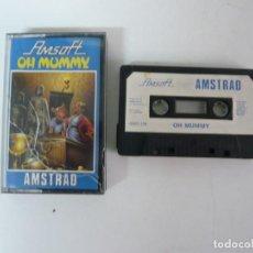 Videojuegos y Consolas: OH MUMMY! / JEWEL CASE / AMSTRAD CPC 464 / RETRO VINTAGE / CASSETTE - CINTA. Lote 197754030