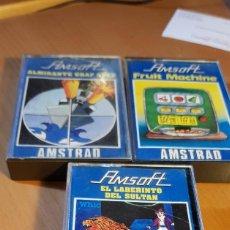 Videojuegos y Consolas: 3 JUEGOS AMSTRAD - ALMIRANTE GRAF SPEE - FRUIT MACHINE - EL LABERINTO DEL SULTAN DE AMSOFT. Lote 197991172