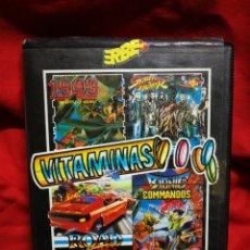 Videojuegos y Consolas: JUEGO AMSTRAD VITAMINAS (STREET FIGHTER, 1943, BIONIC COMMANDOS, ROGAD BLASTERS), CAPCOM. 1989.. Lote 198640610
