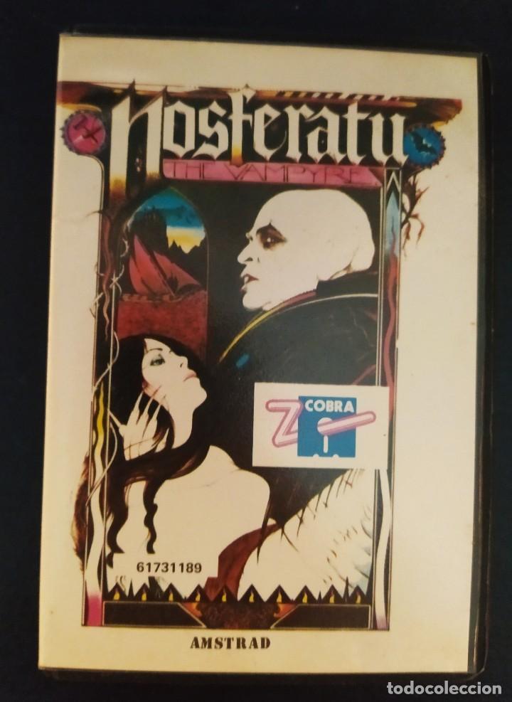 VIDEOJUEGO NOSFERATU (AMSTRAD), ESTUCHE, ZAFIRO COBRA. AÑOS 80. NO SPECTRUM, COMMODORE, MSX. RETRO (Juguetes - Videojuegos y Consolas - Amstrad)