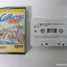 Videojuegos y Consolas: CALIFORNIA GAMES / JEWEL CASE / AMSTRAD CPC 464 / RETRO VINTAGE / CASSETTE - CINTA. Lote 201276597