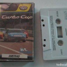 Videojuegos y Consolas: JUEGO TURBO CUP PARA AMSTRAD CASSETTE DE LORICIELS-PROEIN SOFTLINE DEL AÑO 1989.CON LAS INSTRUCCIONE. Lote 204731333