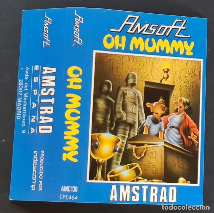 Videojuegos y Consolas: OH MUMMY - Amstrad Cassete - Como nuevo - AMSOFT - Foto 2 - 179123952