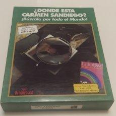 Videojuegos y Consolas: JUEGO DONDE ESTA CARMEN SANDIEGO PARA AMSTRAD CPC 6128 DISCO 1990. Lote 206407028