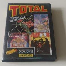 Videojuegos y Consolas: TARGET RENEGADE, COMBAT SCHOOL, PLATOON Y ARKANOID REVENGE OF DOH AMSTRAD CPC 6128 DISCO. Lote 206551577