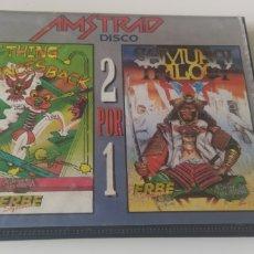 Videojuegos y Consolas: JUEGO AMSTRAD CPC 6128 DISCO THING BOUNCES BACK Y SAMURAI TRILOGY. Lote 206589992