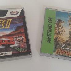Videojuegos y Consolas: LOTE LIVINGSTONE SUPONGO 2 Y CRAZY CARS 2 PARA AMSTRAD CPC 6128 DISCO. Lote 206660127