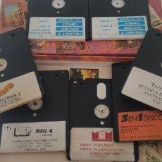 Videojuegos y Consolas: LOTE CAJA COMIC ARCADE AVENTURA AMSTRAD CPC 6128 CPC DISCO MAS JUEGOS DESPIECE. Lote 206750235