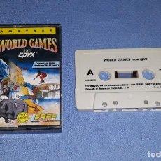 Videojuegos y Consolas: WORLD GAMES JUEGO DE AMSTRAD IDEAL COLECCIONISTAS EN MUY BUEN ESTADO. Lote 208032727