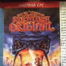 Videojuegos y Consolas: LA AVENTURA ORIGINAL-AMSTRAD CPC-MITICO JUEGO DE AVENTURA CONVERSACIONAL-1989-EDICION ORIGINAL. Lote 210585710