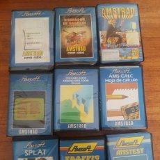 Videojuegos y Consolas: AMSTRAD AMSOFT LOTE DE 9 JUEGOS CON ESTUCHE. Lote 210829735