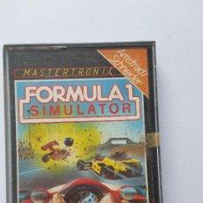 Videojuegos y Consolas: JUEGO AMSTRAD ' FORMULA 1 SIMULATOR ' - CINTA. Lote 213955168