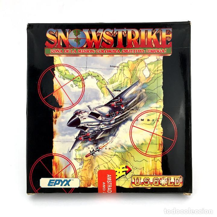 SNOW STRIKE PRECINTADO. ERBE U.S. GOLD EPYX 1990 DISK SNOWSTRIKE DISKETTE AMSTRAD CPC 664 6128 DISCO (Juguetes - Videojuegos y Consolas - Amstrad)