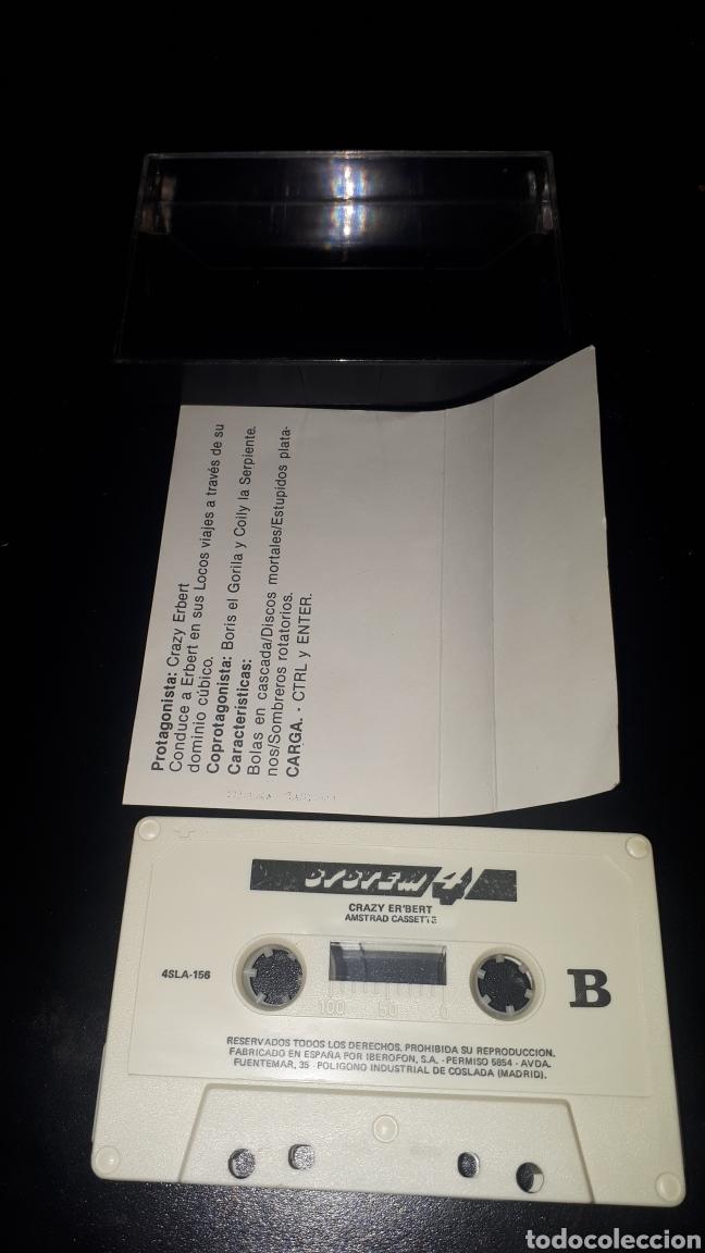 Videojuegos y Consolas: MUY DIFICIL JUEGO CRAZY ERBERT PARA AMSTRAD - Foto 2 - 221524610