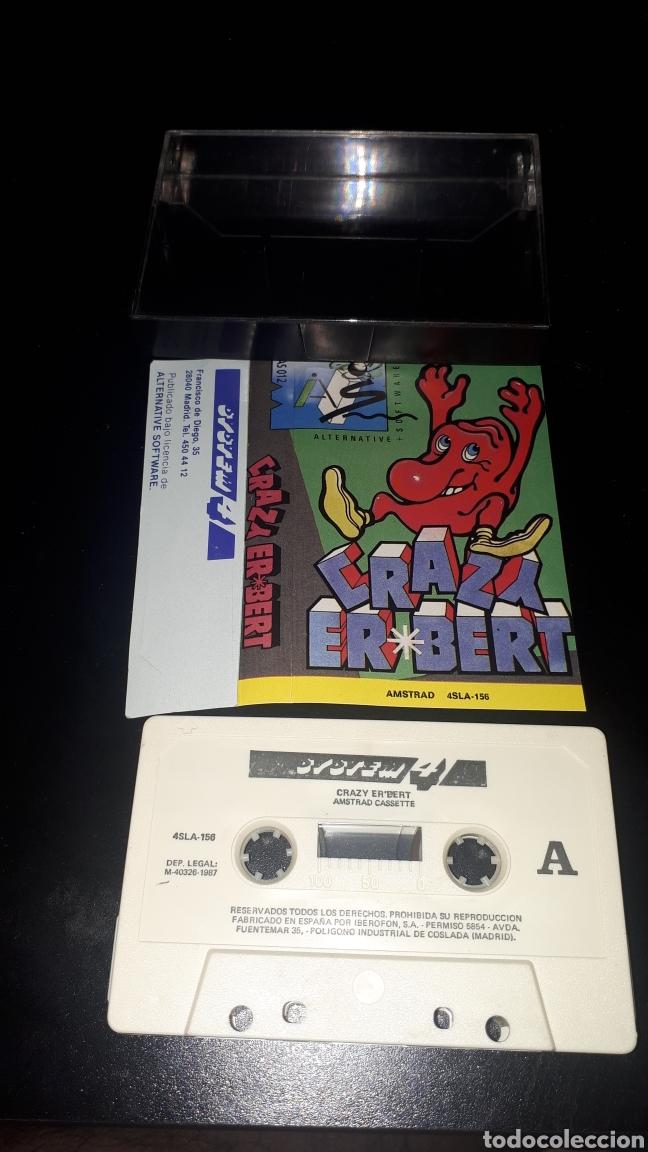 MUY DIFICIL JUEGO CRAZY ERBERT PARA AMSTRAD (Juguetes - Videojuegos y Consolas - Amstrad)