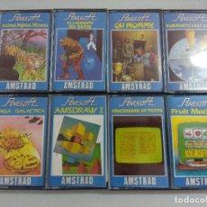 Videojuegos y Consolas: LOTE 8 CASETE AMSTRAD/PLAGA GALACTICA-ALMIRANTE GRAF SPEE-FRUIT MACHINE-EL LABERINTO.. Lote 221638998