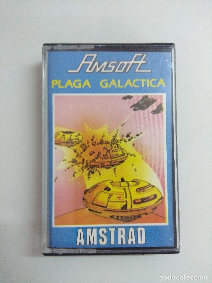 CASETE AMSTRAD/PLAGA GALACTICA. (Juguetes - Videojuegos y Consolas - Amstrad)