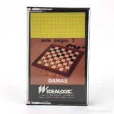 Videojuegos y Consolas: DAMAS IDEALOGIC / DIMENSIONNEW 1985 JUEGO DE MESA CINTA PARA ORDENADOR AMSTRAD CPC 464 664 CASSETTE. Lote 227651520