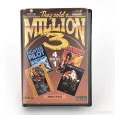 Videojuegos y Consolas: THEY SOLD A MILLION 3 ESTUCHE ERBE * INCOMPLETO. FIGHTER PILOT GHOSTBUSTERS AMSTRAD CPC 464 CASSETTE. Lote 228958105