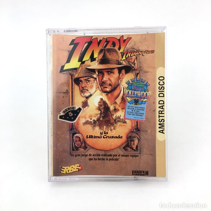 INDIANA JONES Y LA ULTIMA CRUZADA LUCASFILM ERBE 1989 INDY LUCASFILM DISKETTE AMSTRAD CPC 6128 DISCO (Juguetes - Videojuegos y Consolas - Amstrad)