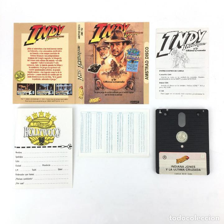 Videojuegos y Consolas: INDIANA JONES Y LA ULTIMA CRUZADA LUCASFILM ERBE 1989 INDY LUCASFILM DISKETTE AMSTRAD CPC 6128 DISCO - Foto 2 - 229017490