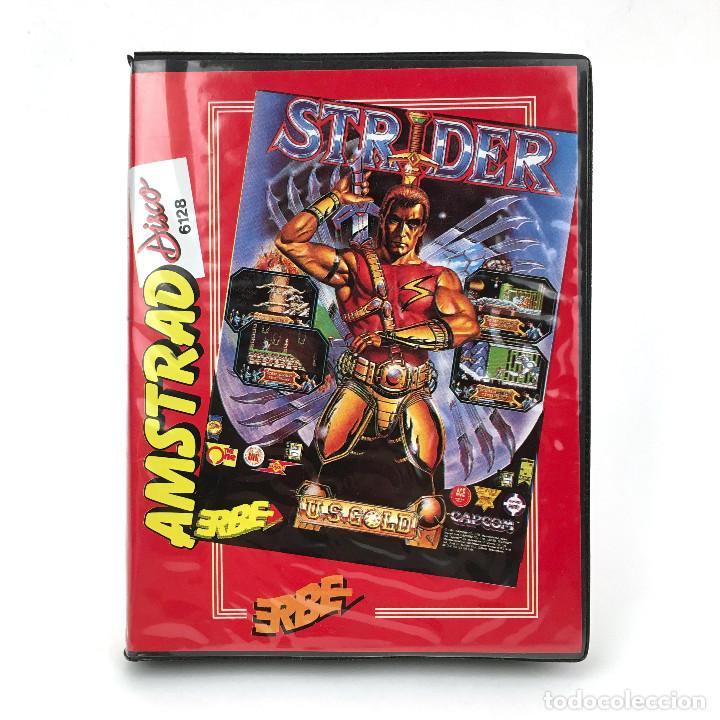 STRIDER ESTUCHE ERBE ESPAÑA U.S GOLD CAPCOM JUEGO DE PLATAFORMAS DISKETTE AMSTRAD CPC 664 6128 DISCO (Juguetes - Videojuegos y Consolas - Amstrad)