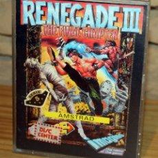 Videojogos e Consolas: AMSTRAD - RENEGADE III - IMAGINE - ERBE - 1989 - CAJA GRANDE. Lote 229706615