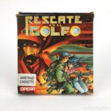 Videojuegos y Consolas: RESCATE EN EL GOLFO OPERA SOFT ALFONSO AZPIRI JUMBO / FIST OF STEEL AMSTRAD CPC 464 664 472 CASSETTE. Lote 229781365