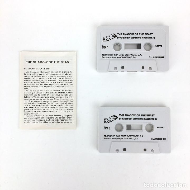 Videojuegos y Consolas: SHADOW OF THE BEAST / ERBE ESPAÑA PSYGNOSIS GREMLIN GRAPHICS 1990 JUEGO AMSTRAD CPC 464 664 CASSETTE - Foto 2 - 229914490