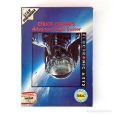 Videojuegos y Consolas: CHUCK YEAGER´S ADVANCED FLIGHT TRAINER - ELECTRONIC ARTS SIMULADOR DE VUELO AMSTRAD CPC 464 CASSETTE. Lote 229927385