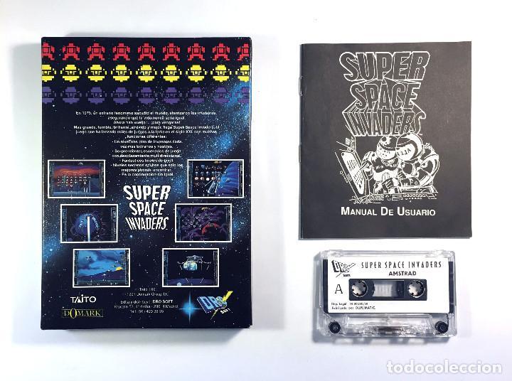 Videojuegos y Consolas: SUPER SPACE INVADERS. DRO SOFT ESPAÑA DOMARK TAITO THE KREMLIN 1991 MARCIANITOS AMSTRAD CPC CASSETTE - Foto 2 - 229927550