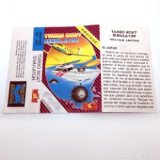 Videojuegos y Consolas: SOLO CAJA Y CARATULA DE TURBO BOAT SIMULATOR MCM SOFTWARE ESPAÑA SILVERBIRD 1988 AMSTRAD CPC 464 664. Lote 230284580