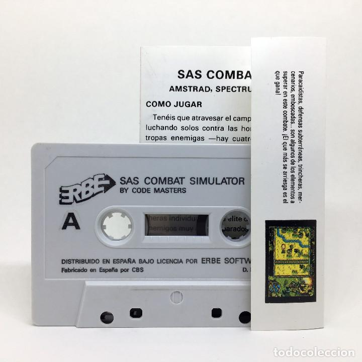 Videojuegos y Consolas: SAS COMBAT SIMULATOR ERBE ESPAÑA CODEMASTERS 1989 JUEGO RETRO DE GUERRA AMSTRAD CPC 464 664 CASSETTE - Foto 2 - 230295655