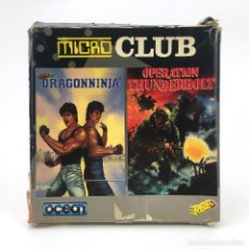 Videojuegos y Consolas: DRAGON NINJA + OPERATION THUNDERBOLT ERBE ESPAÑA 1991 DISKETTE AMSTRAD MICRO CLUB CPC 664 6128 DISCO. Lote 230646540