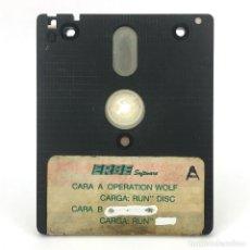 Videojuegos y Consolas: OPERATION WOLF ERBE DISCO AMSOFT CON NOMBRE BORRADO JUEGO RETRO DISKETTE AMSTRAD CPC 6128 664 DISCO. Lote 230758915
