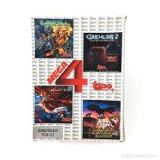 Videojuegos y Consolas: MEGA 4 LORNA GREMLINS 2 ZONA 0 LA ESPADA SAGRADA TOPO SOFT PACK DISKETTE AMSTRAD CPC 6128 664 DISCO. Lote 230853710
