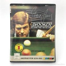 Videojuegos y Consolas: STEVE DAVIS SNOOKER ESTUCHE CDS SOFTWARE 1986 POOL BILLAR DISKETTE AMSTRAD PCW 8256 8512 9512 DISCO. Lote 230932045