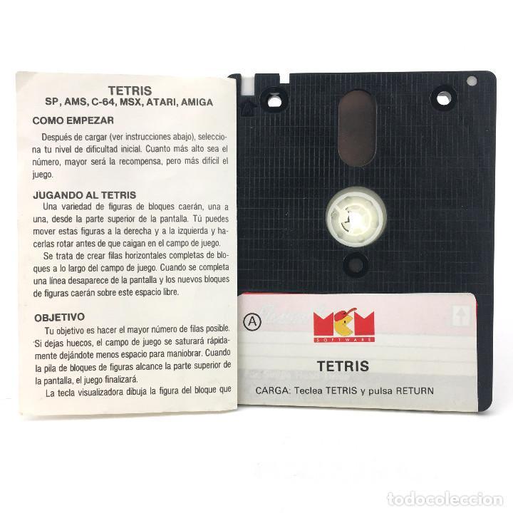 Videojuegos y Consolas: TETRIS MCM ESPAÑA MIRRORSOFT ANDROMEDA SOFTWARE 1990 JUEGO DISKETTE AMSTRAD PCW 8256 8512 9512 DISCO - Foto 2 - 230932360