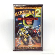 Videojuegos y Consolas: KIKSTART 2 DRO SOFT ESPAÑA / MASTERTRONIC 1988 + COURSE DESIGNER MOTOCROSS AMSTRAD CPC 464 CASSETTE. Lote 231564740
