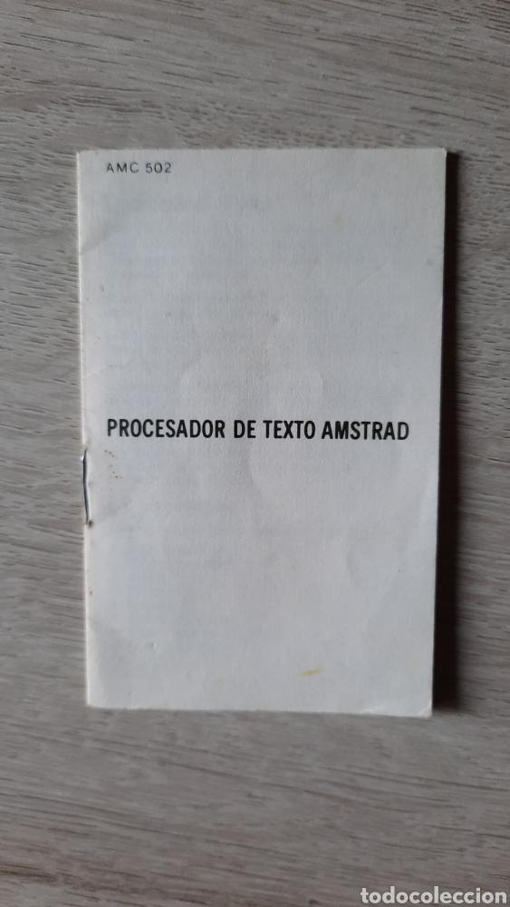 Videojuegos y Consolas: PROCESADOR DE TEXTO (AMSOFT, 1985) - CASETTE AMSTRAD CPC 464 - CON INSTRUCCIONES ORIGINALES - Foto 2 - 231609115