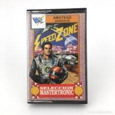 Videojuegos y Consolas: SPEED ZONE RARA EDICION DRO SOFT ESPAÑA MASTERTRONIC 1988 SPEEDZONE ANDROM AMSTRAD CPC 464 CASSETTE. Lote 231936170