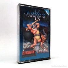 Videojuegos y Consolas: ARKOS. ZIGURAT ARCADIA 1988 HACHA SAGRADA DIOSES TRIBU MAGIA ALQUIMIA JUEGO AMSTRAD CPC 464 CASSETTE. Lote 232073715